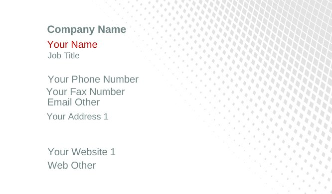 White and Gray Gradient Business Card Template